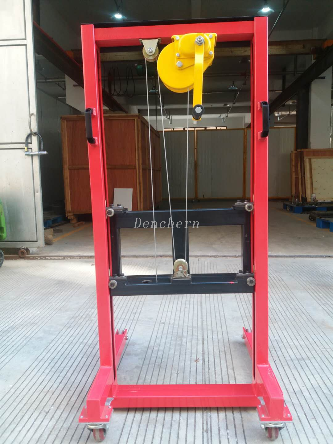 Red web feeder for paper rolls
